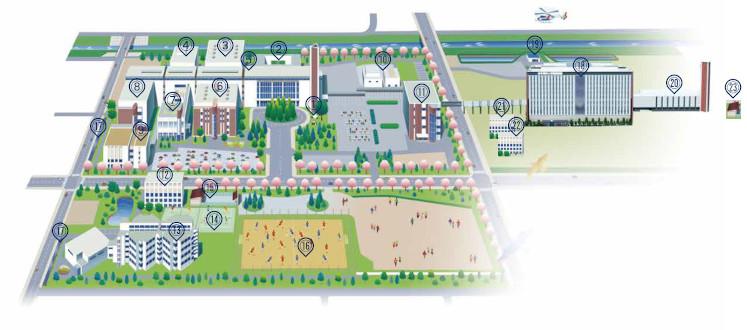 矢巾キャンパスマップ